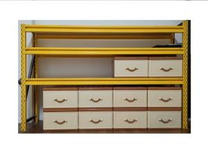 Multifunctional color yellow storage shelf set